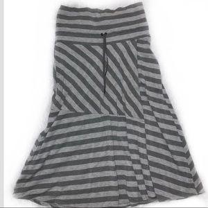 Athleta gray striped skirt Sz Small